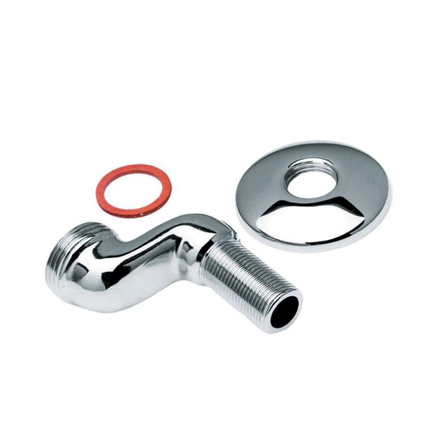 """Bonfix S-koppeling, sprong 30 mm, met rozet en fiberring, ½"""" x ½"""""""