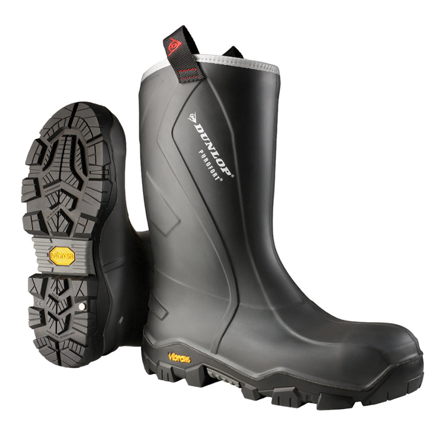 Dunlop laarzen, type Purofort+ Reliance, laag model, full safety, S5, Vibram zool, maat 42
