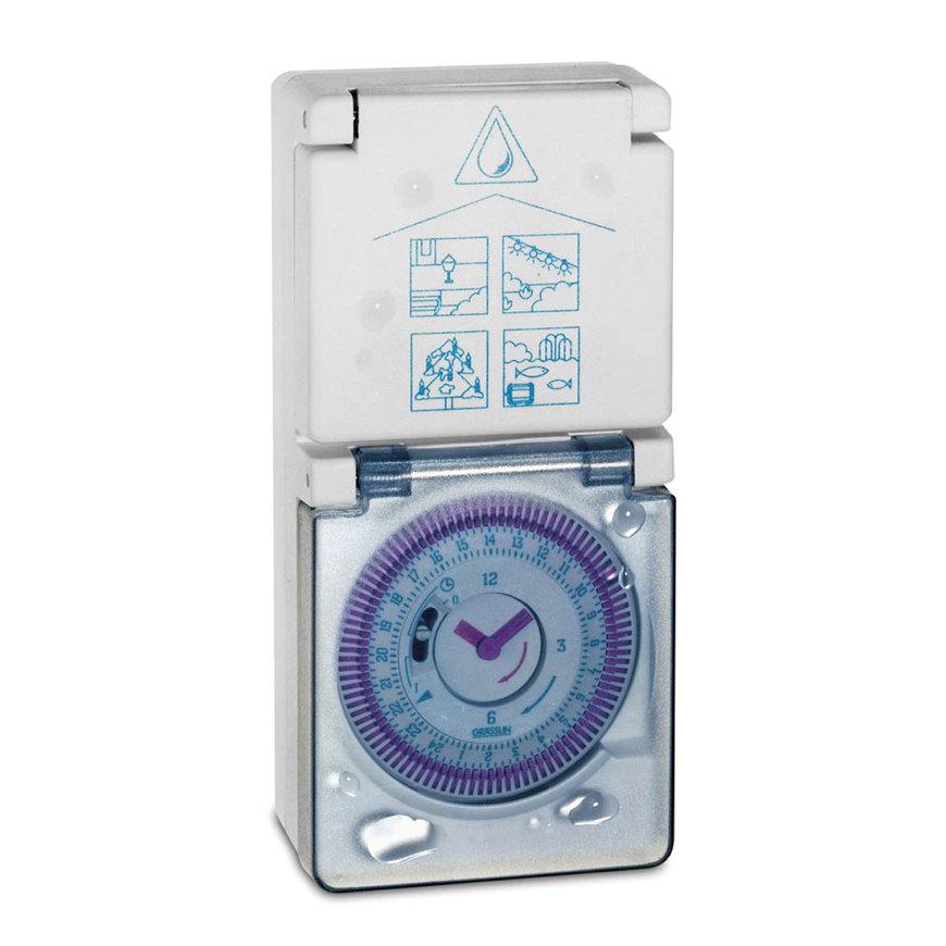 Grässlin analoge buitenstekkerschakelklok, Topica 410S, 230V / 50Hz, IP54  default 870x870