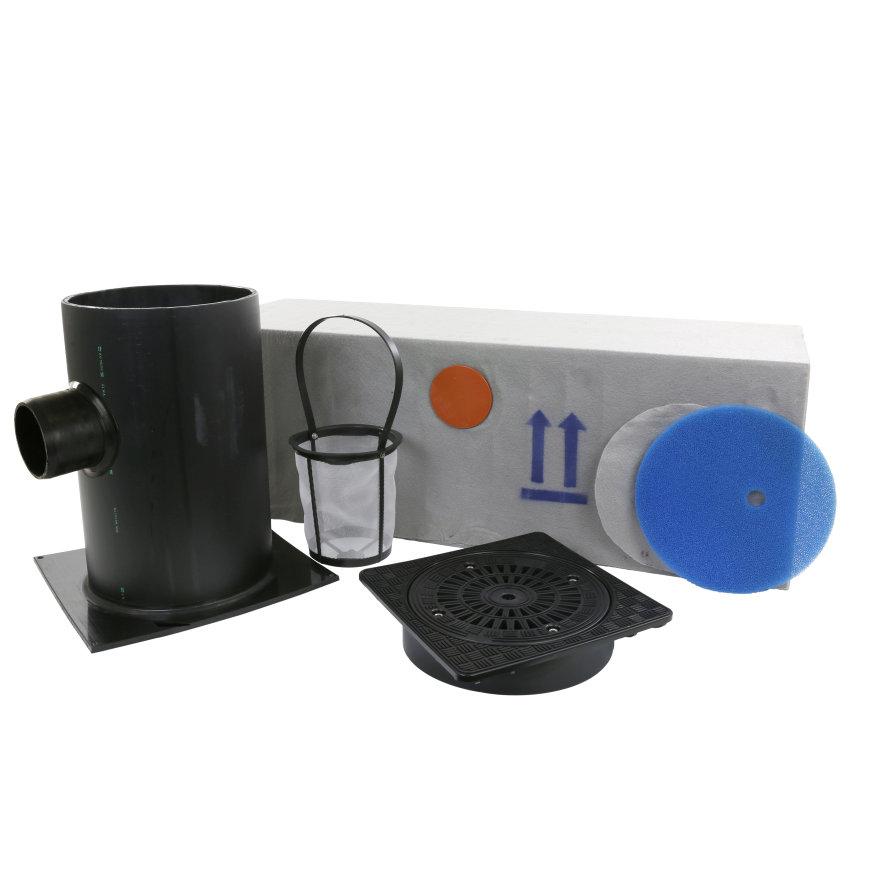 Infiltratie basis set, 200 liter, kunststof deksel, klasse A, h = 1000 mm