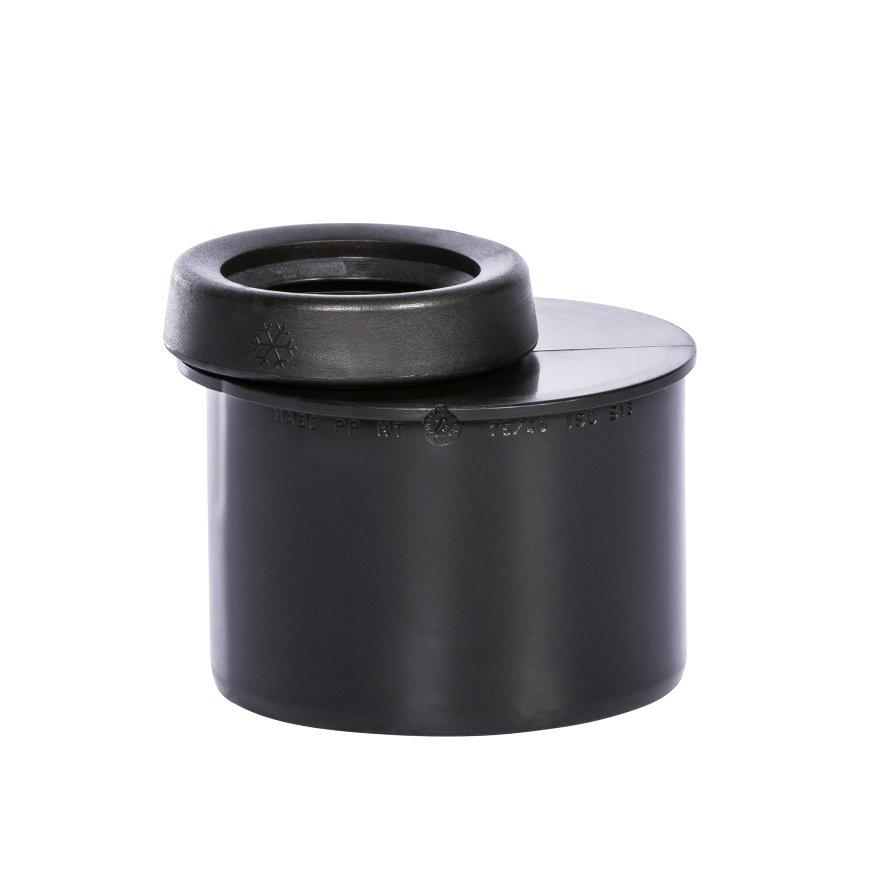 Pipelife MASTER3 PLUS Reduziereinsatz, kurz, PP, schwarz, 75x 50 mm