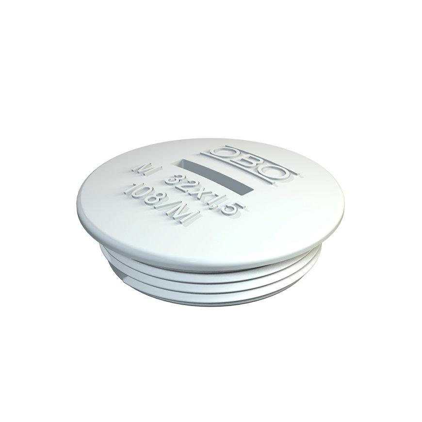 OBO blindstop, polystyreen, lichtgrijs RAL 7035, M20  default 870x870