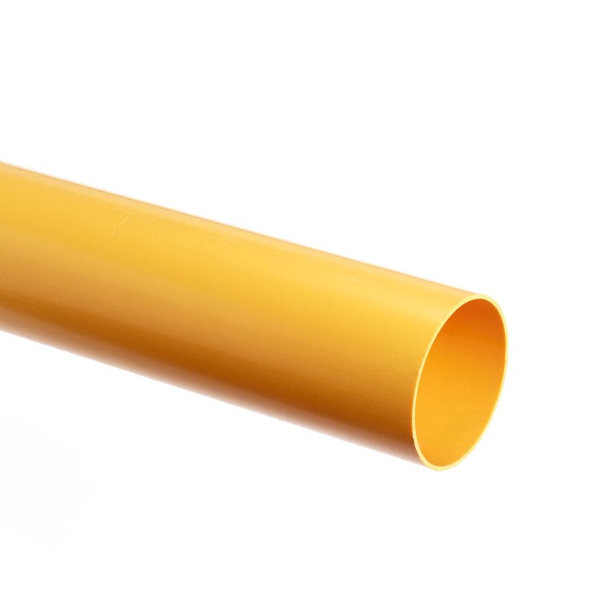 Gasbuis, slagvast, pvc, klasse 41, geel, Gastec QA, 50 x 2,0 mm, l = 4 m