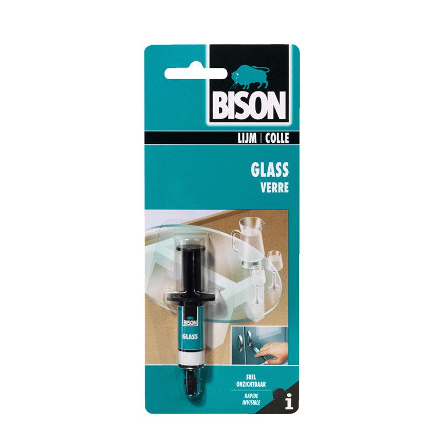 Bison Glas, lijm voor glas, spuit à 2 ml