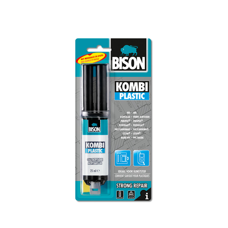 Bison 2-componentenlijm, Kombi Plastic, blister à 25 ml  default 870x870