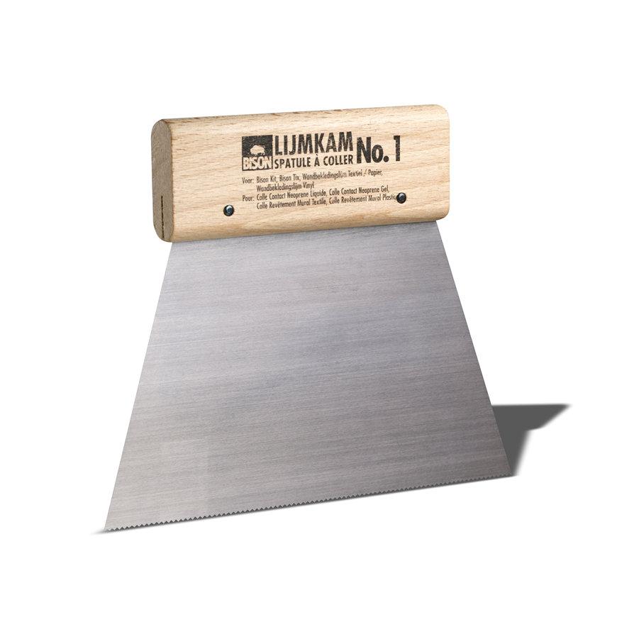 Bison lijmkam met houten handvat, nr. 1, lijmril b = 1 mm, h = 1 mm  default 870x870