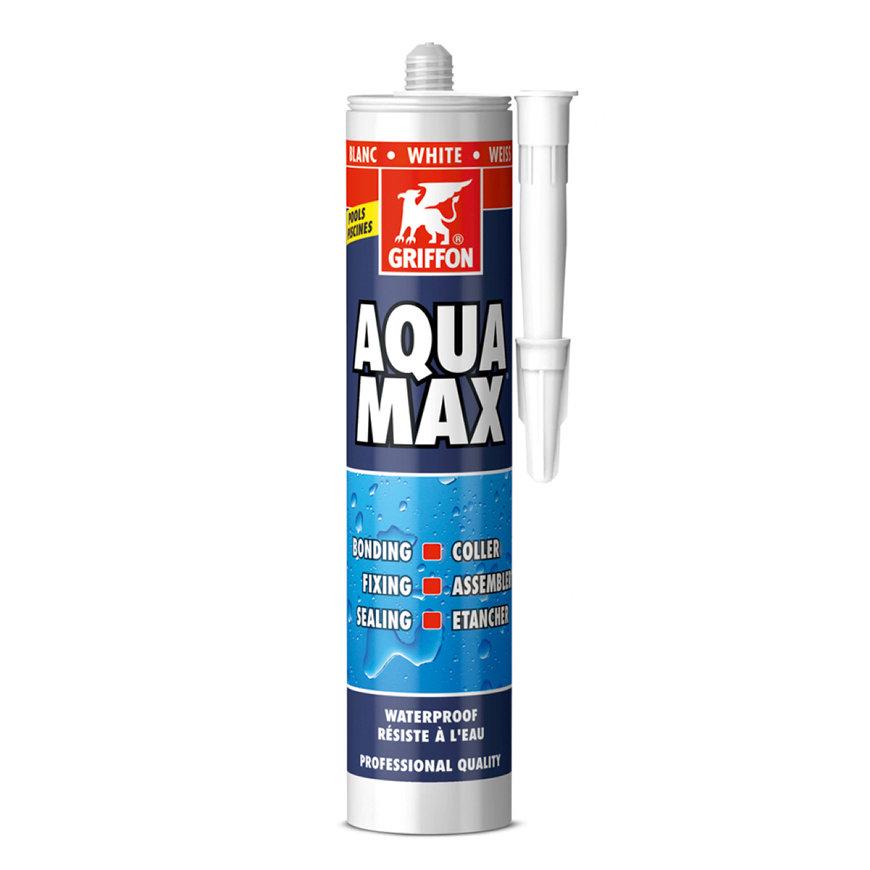 Griffon Aqua Max montagelijm en afdichtingskit, wit, koker à 425 gram  default 870x870