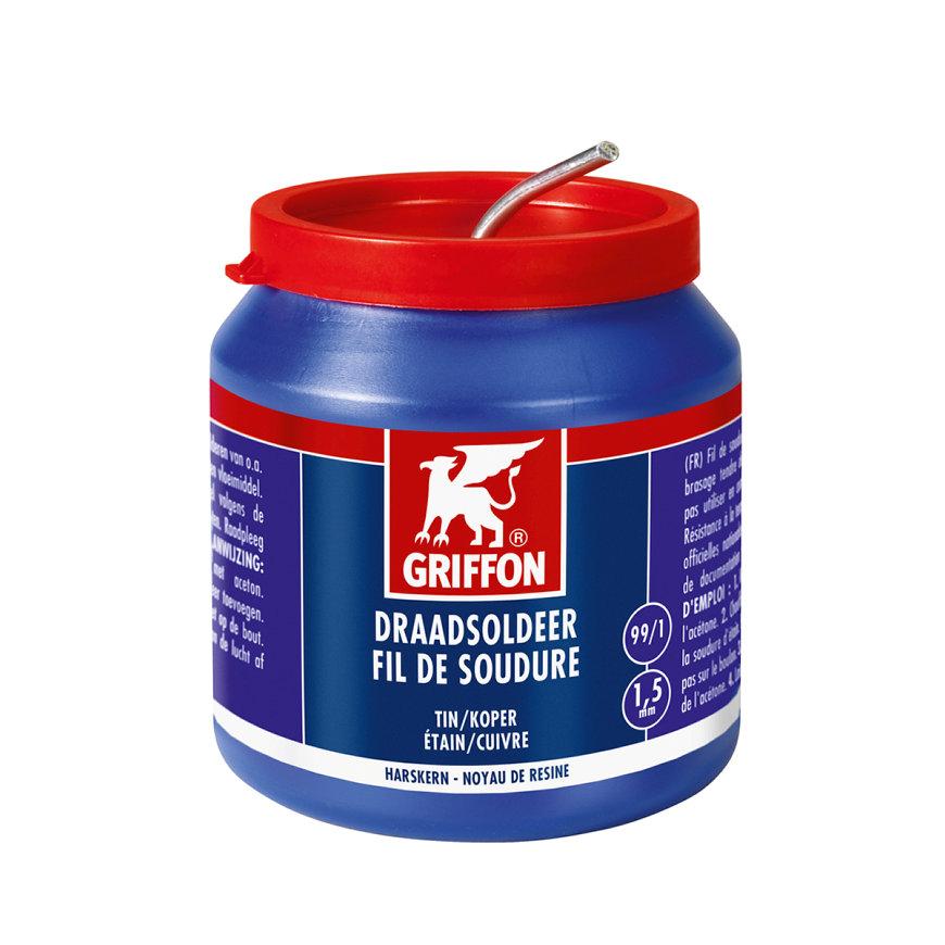 Griffon soldeertin, tin/koper 99/1, elektra, harskern 1,5 mm, pot à 500 gram