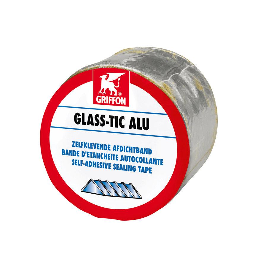 Griffon afdichtband op petrolatumbasis, Glass-tic Alu, b = 75 mm, l = 10 m, per rol  default 870x870