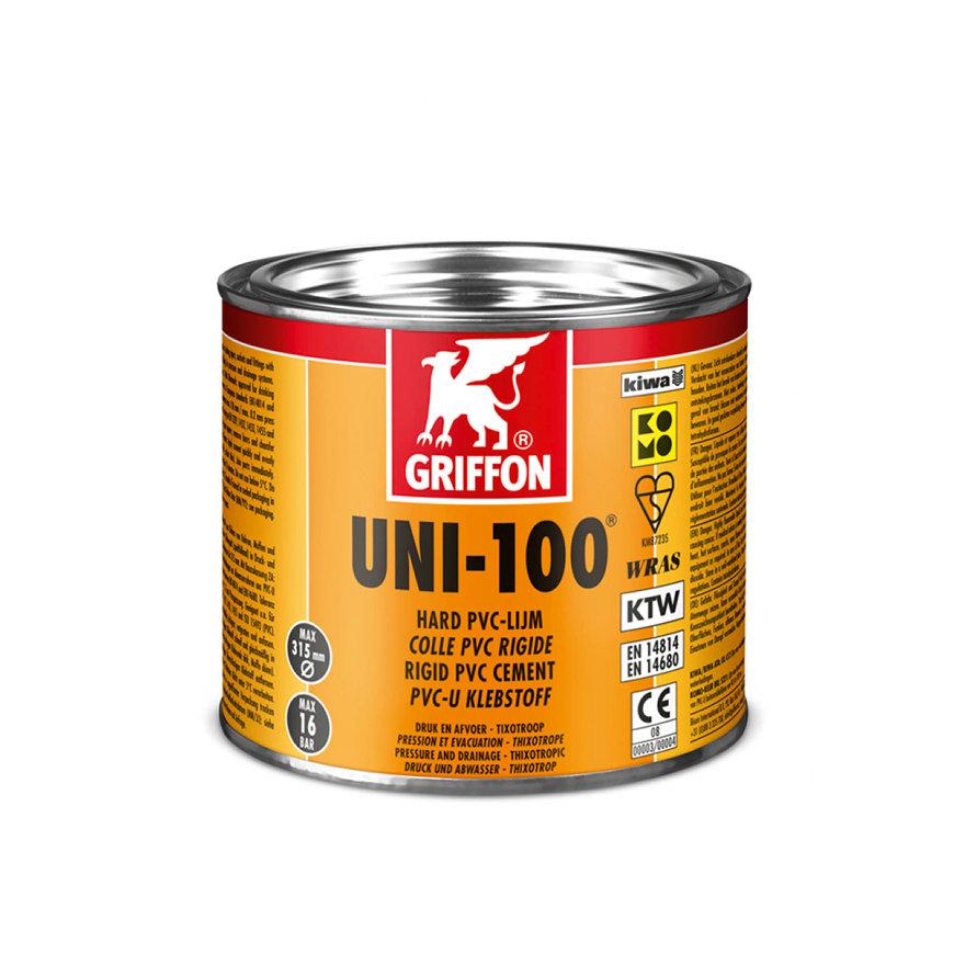 Griffon hard pvc lijm, Uni-100, blik met drukdeksel à 500 ml