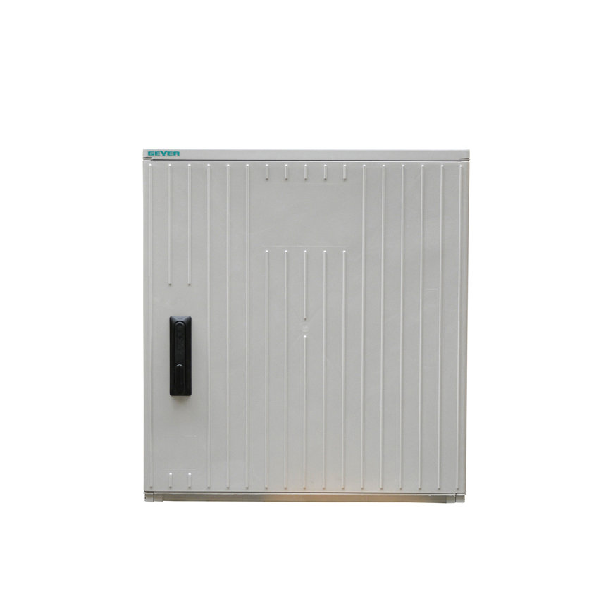 Geyer kast, polyester, lichtgrijs, IP44, GR1/870, 870 x 785 x 320 mm, inclusief montageplaat  default 870x870