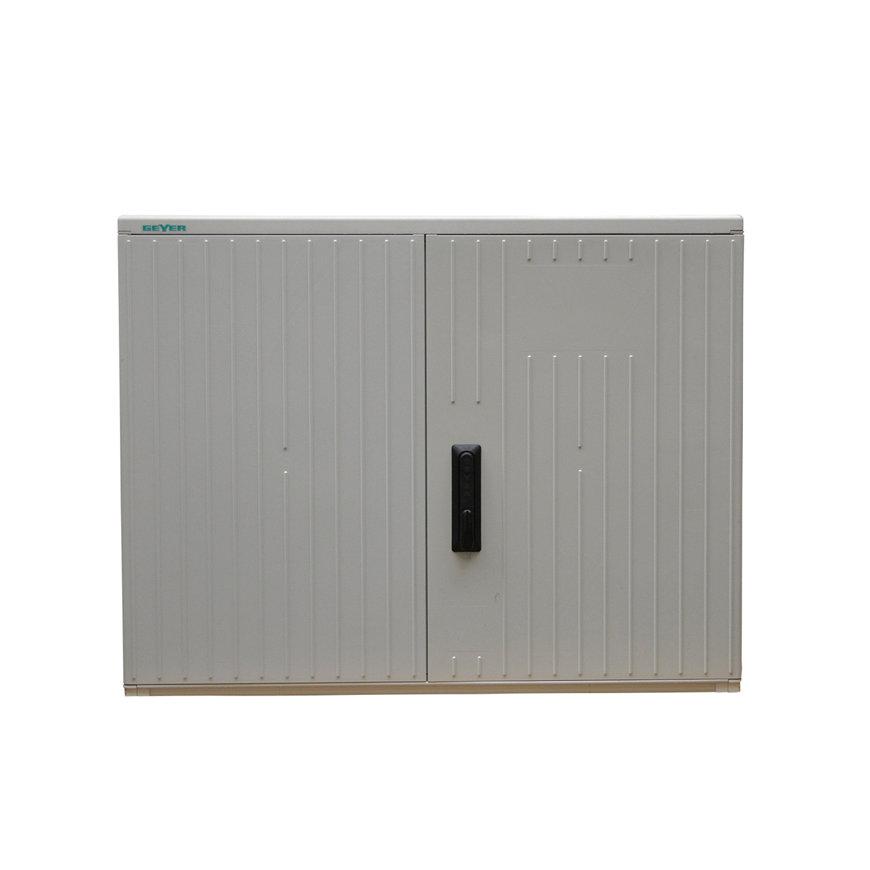 Geyer kast, polyester, lichtgrijs, IP44, GR2/870, 870 x 1115 x 320 mm, inclusief montageplaat  default 870x870