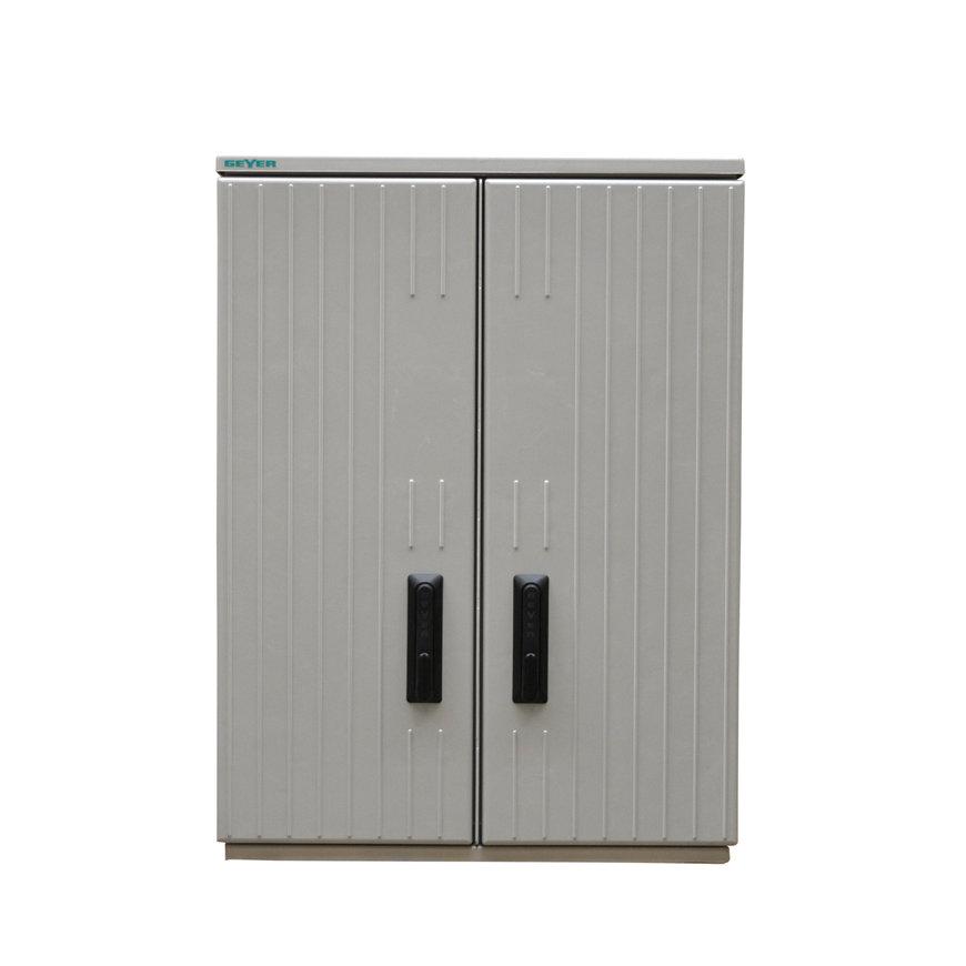 Geyer kast, polyester, grijs, IP44, GR1/1065, 1065x785x320mm, incl. montageplaat,symet. compartiment