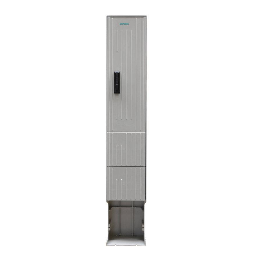 Geyer kast, polyester, lichtgrijs, IP44, 2010 x 350 x 277 mm