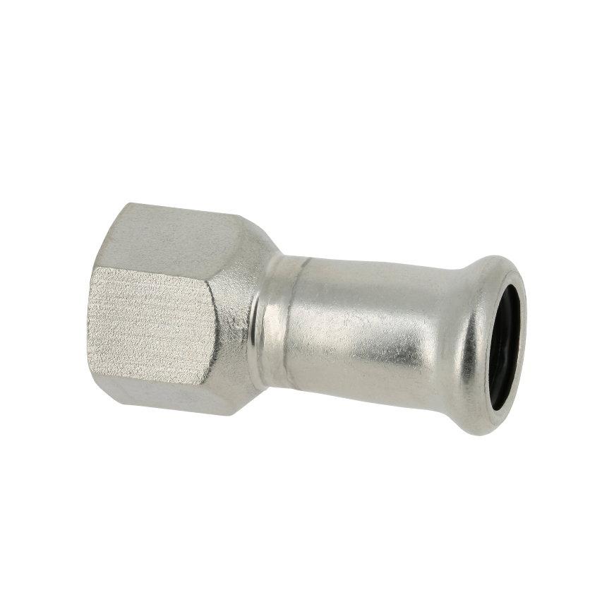 """Bonfix PRESS schroefkoppeling, rvs, binnendraad x pers, ½"""" x 15 mm, Kiwa"""