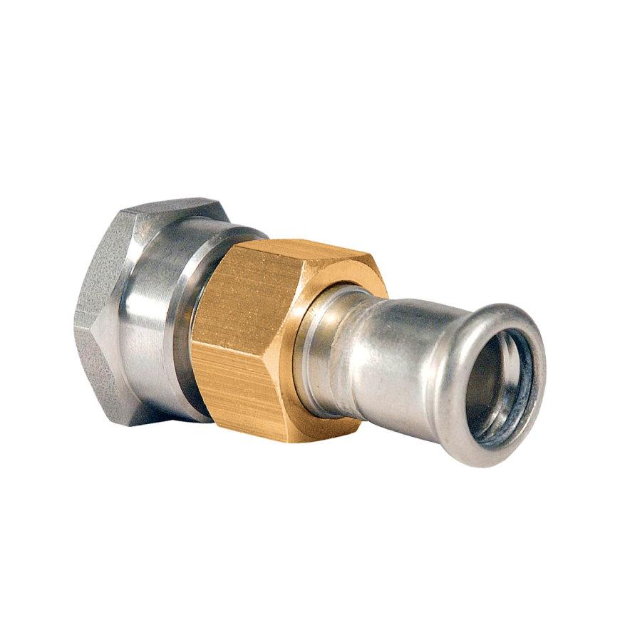 """Bonfix PRESS 3-delige koppeling, rvs, binnendraad x pers, ¾"""" x 22 mm, Kiwa  default 870x870"""