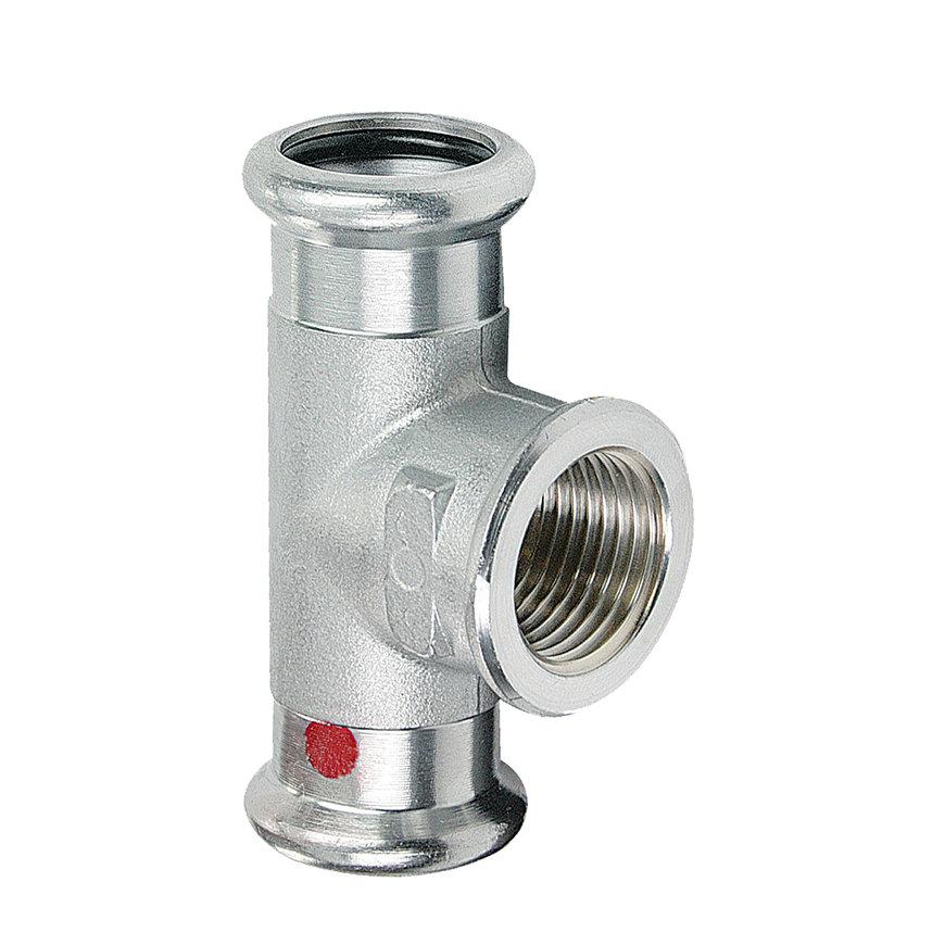"""Bonfix PRESS schroef T-stuk 90°, staalverzinkt, 2x pers / 1x binnendraad, 54 x ¾"""" x 54 mm  default 870x870"""