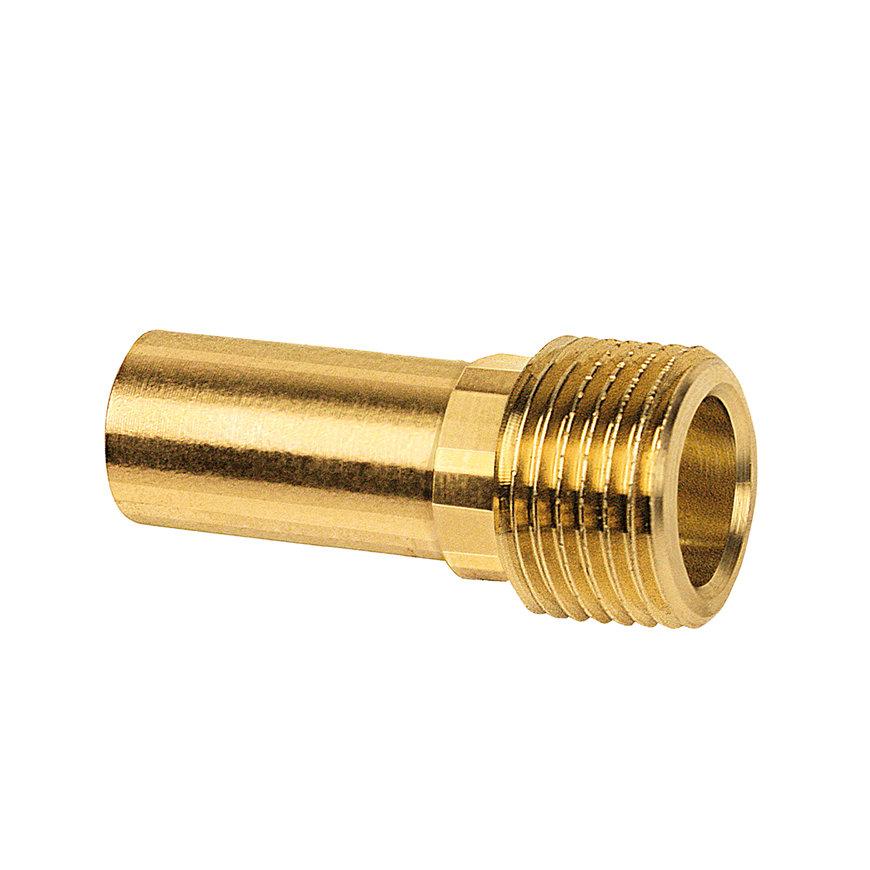 """Bonfix PRESS draadkoppeling, roodkoper, buitendraad x steek, 1¼"""" x 35 mm, Kiwa"""