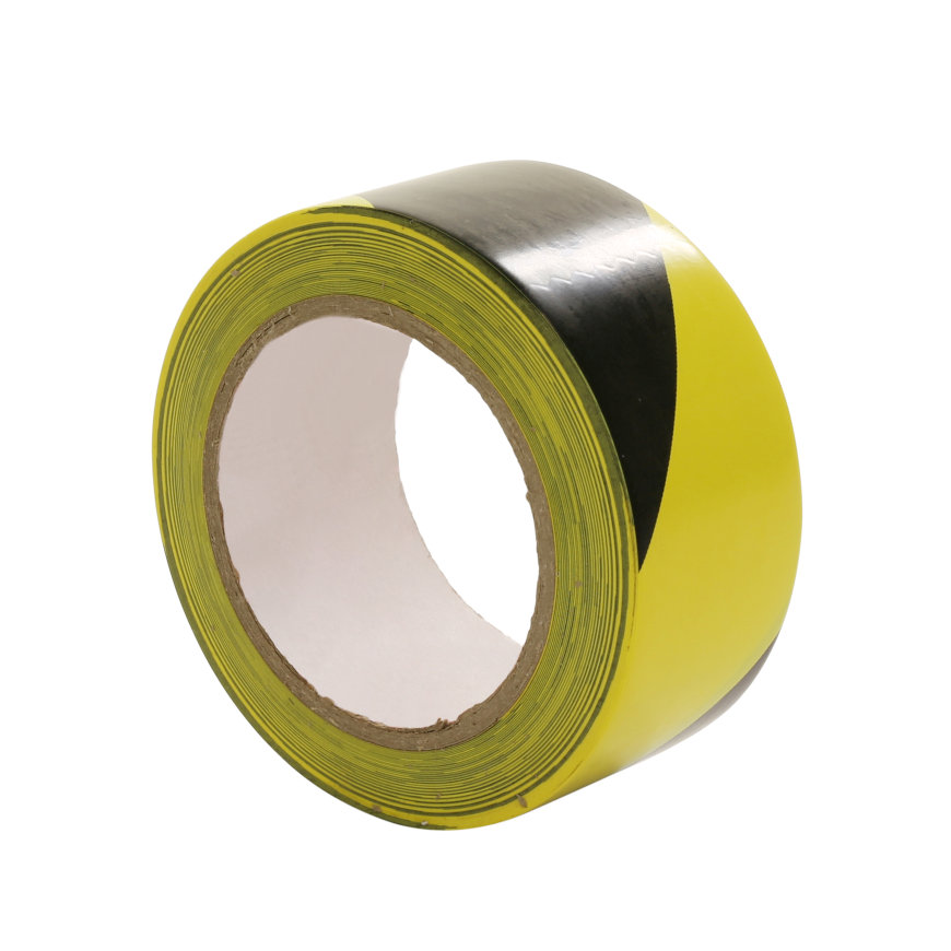 Multicoll markeringstape, pe, b = 50 mm, l = 66 m, zwart/geel, per rol