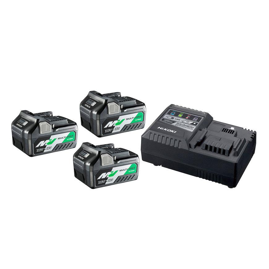 HiKOKI boosterpack, type UC18YSL3 WA3, 3 pack, (BSL36A18 x3 + UC18YSL3)