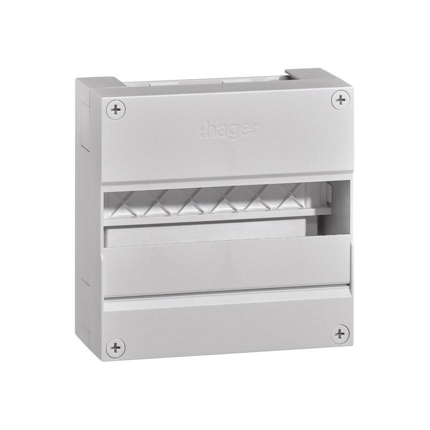 Hager Vision opbouwverdeler, 12 modules, type VKG21Z, IP30, 220 x 220 mm