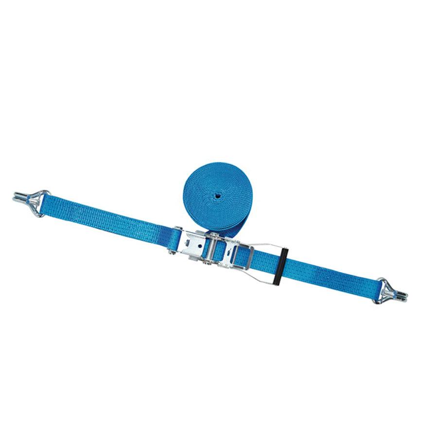 Promat spanband met ratelgesp en haak met beveiliging, b = 50 mm, max. trekkracht 5000 kg, l = 10 m