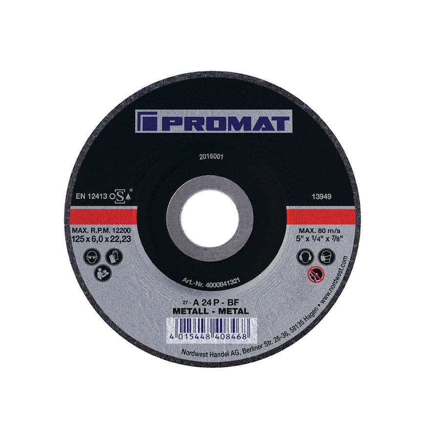 Promat afbraamschijf, d = 230 mm, dikte = 6 mm, gebogen, staal, boorgat 22,23 mm