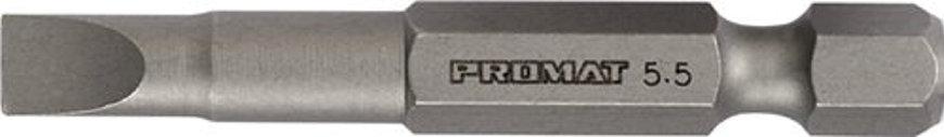 """Promat bit voor sleufschroeven, lengte = 50 mm, ¼"""", 4,5 mm, snijvlaksterkte = 0,6 mm"""