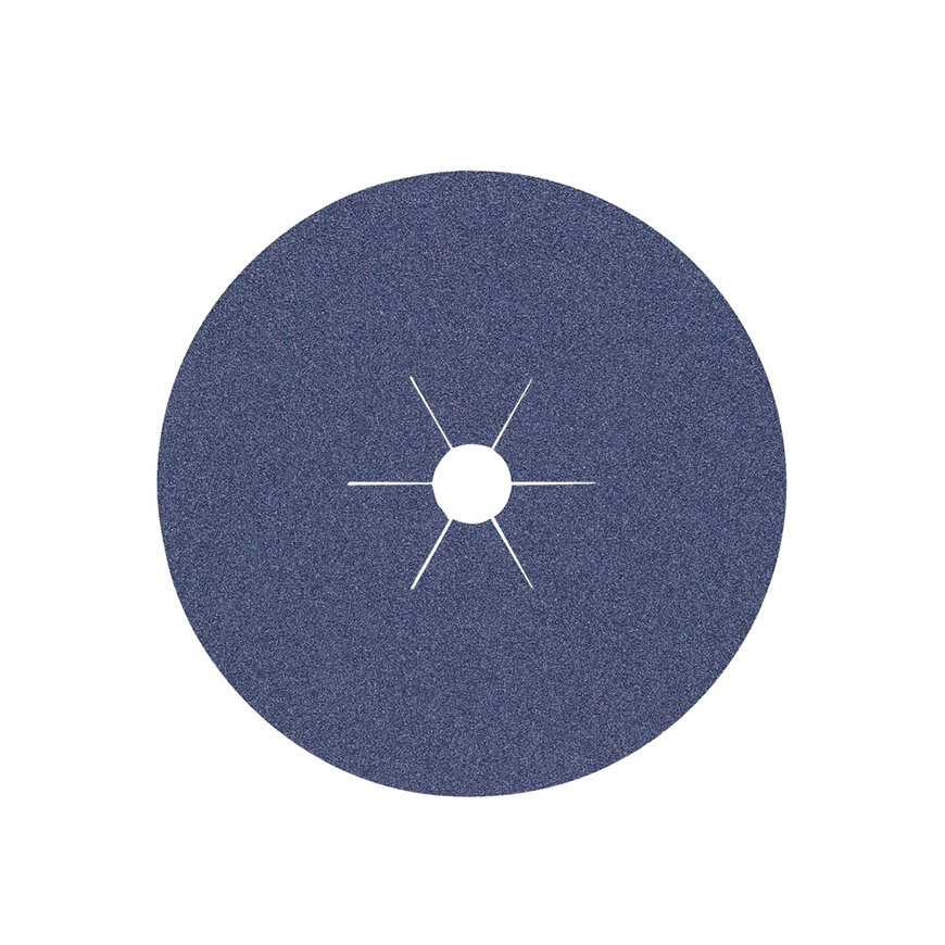 Promat fiberschijf, d = 125 mm, korrel 36, zirkoniumkorund, voor rvs