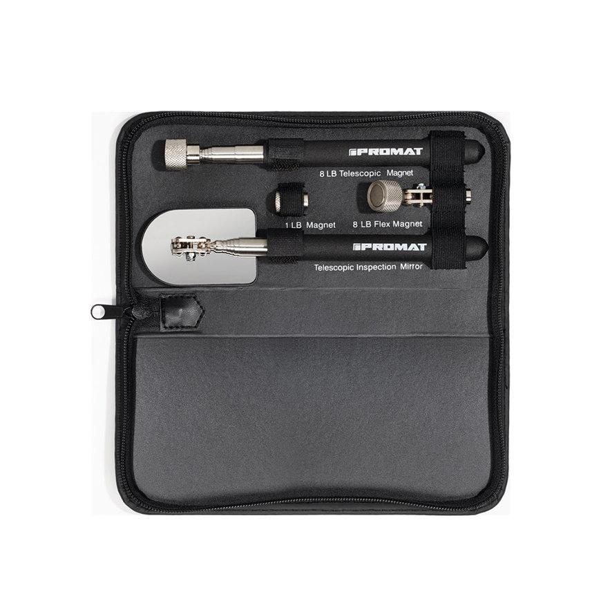 Promat magneet- en inspectiespiegelset, l = 635 mm, 4-delig