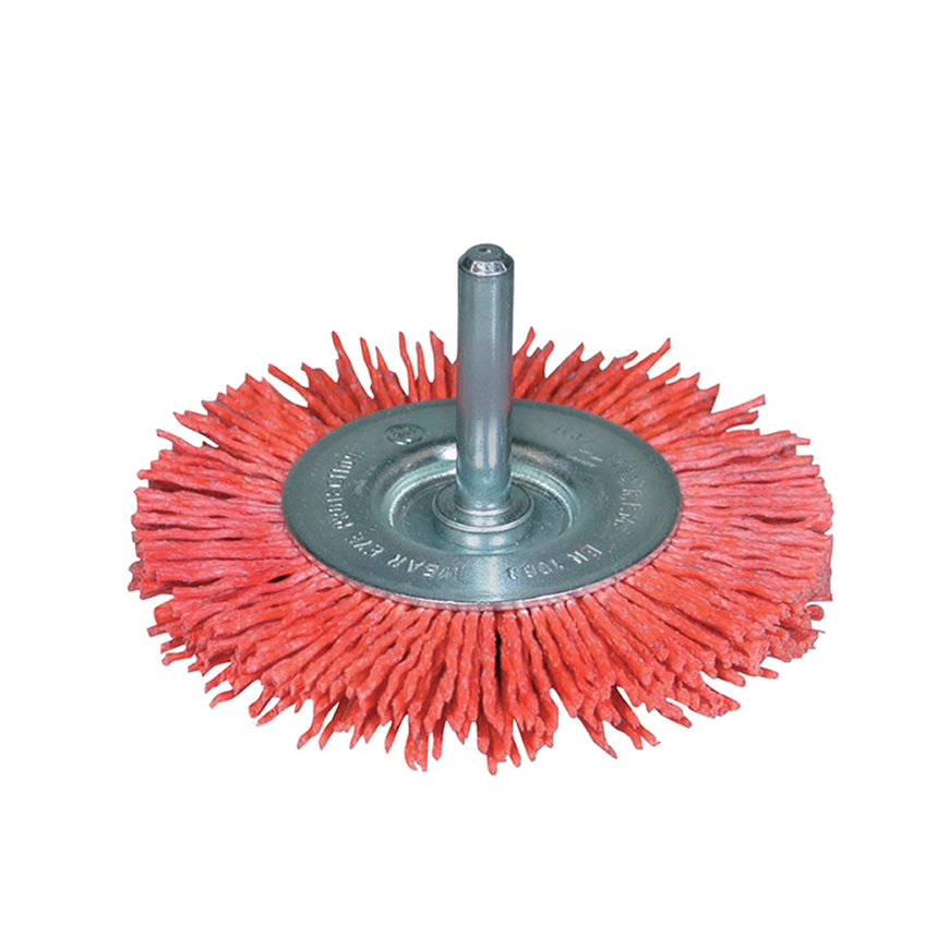 Promat rondborstel, nylon, d = 75 mm, opname 6 mm, korrel 80, max. 4500 omw/min