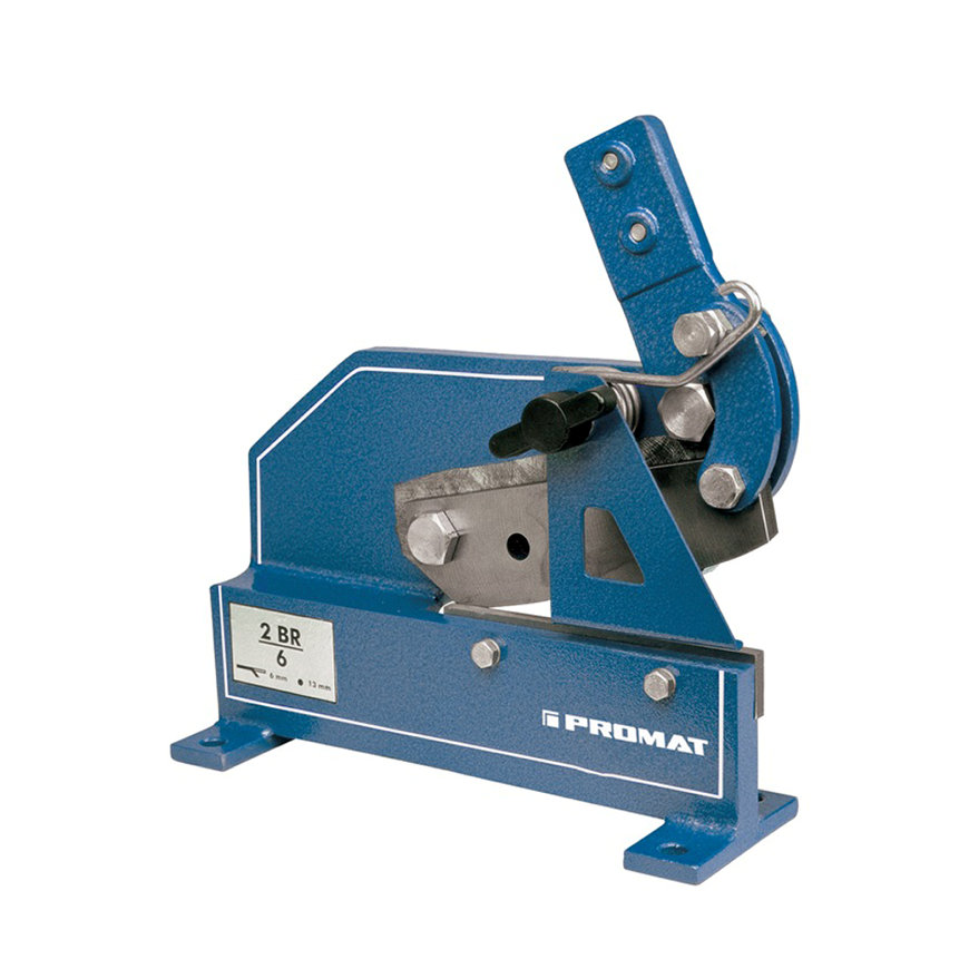 Promat plaat-/rondstaalschaar, 2BR/6, meslengte 180 mm, plaatstaal 70 x 6 mm, rondstaal 13 mm