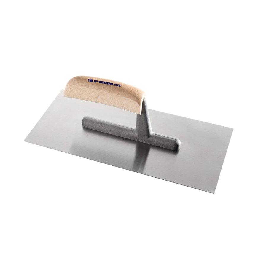 Promat pleisterspaan, gehard staal, l = 280 mm, b = 130 mm, d = 0,7 mm, gebogen beukenhouten heft  default 870x870