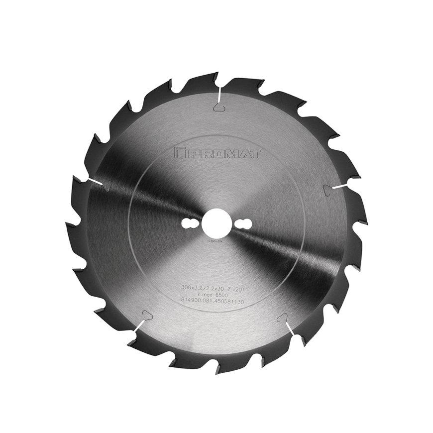 Promat precisie cirkelzaagblad, asgat = 30 mm, tandvorm FF, snijbreedte 3,2 mm, Ø 315 mm, 20 tanden