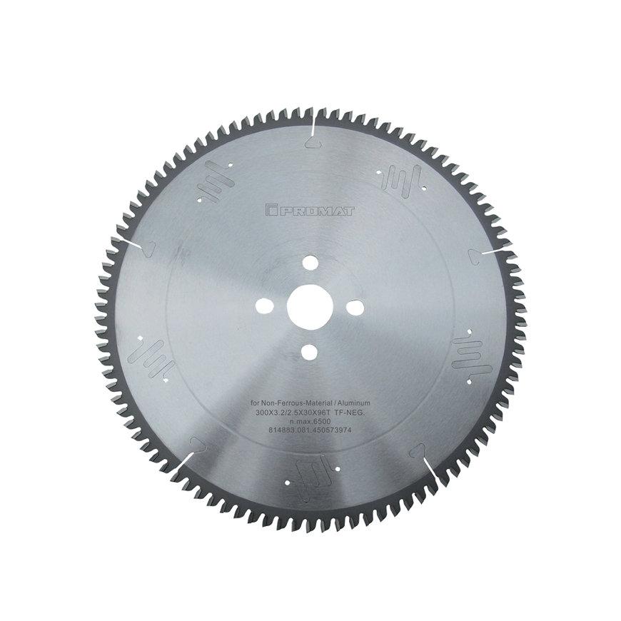 Promat precisie cirkelzaagblad, asgat = 30 mm, tandvorm TF, snijbr. 3,2 mm, Ø 250 mm, 80 tanden neg.
