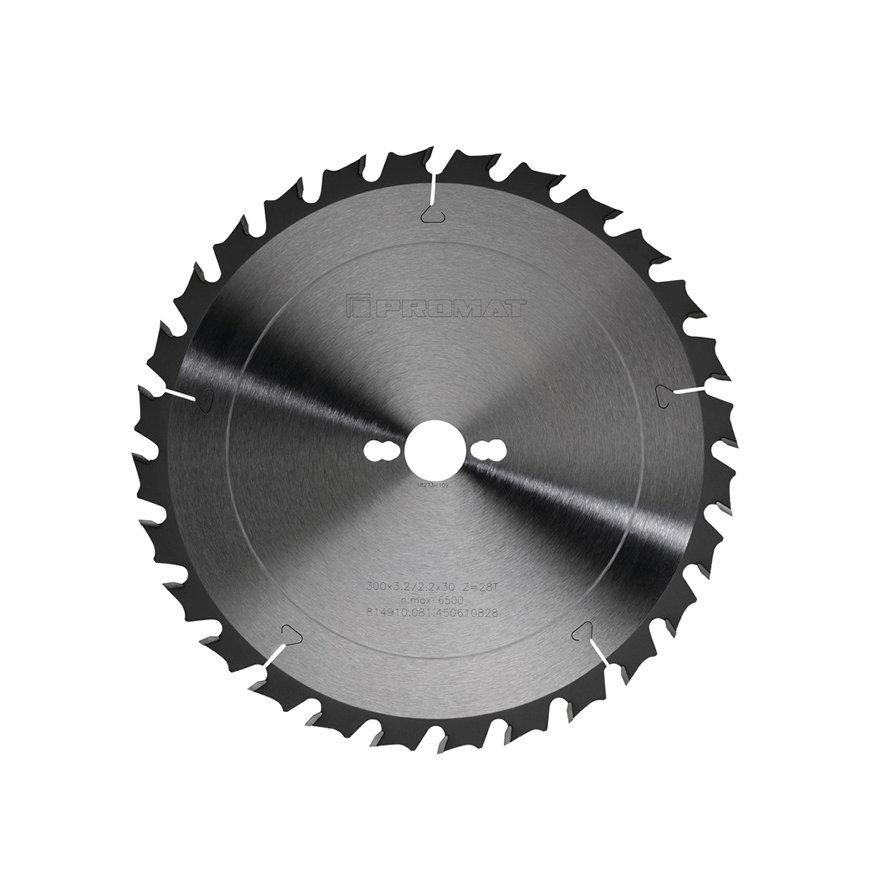 Promat precisie cirkelzaagblad, asgat = 30 mm, tandvorm W, snijbr. 3,2 mm, Ø 315 mm, 28 tanden
