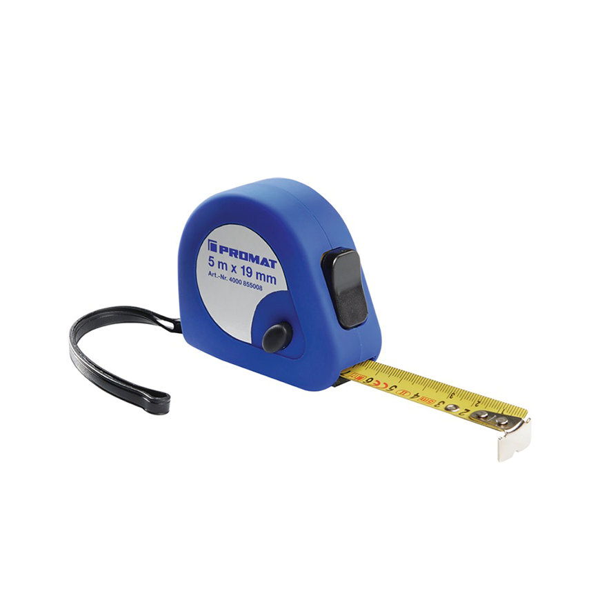 Promat rolbandmaat, bandbreedte 13 mm, verdeling mm/cm, EG II, kunststof Automatic, l = 2 m
