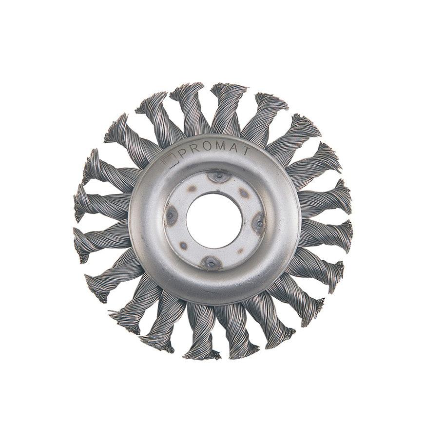 Promat ronde borstel, rvs, d = 178 mm, rvs-draad, max. 10000 omw/min