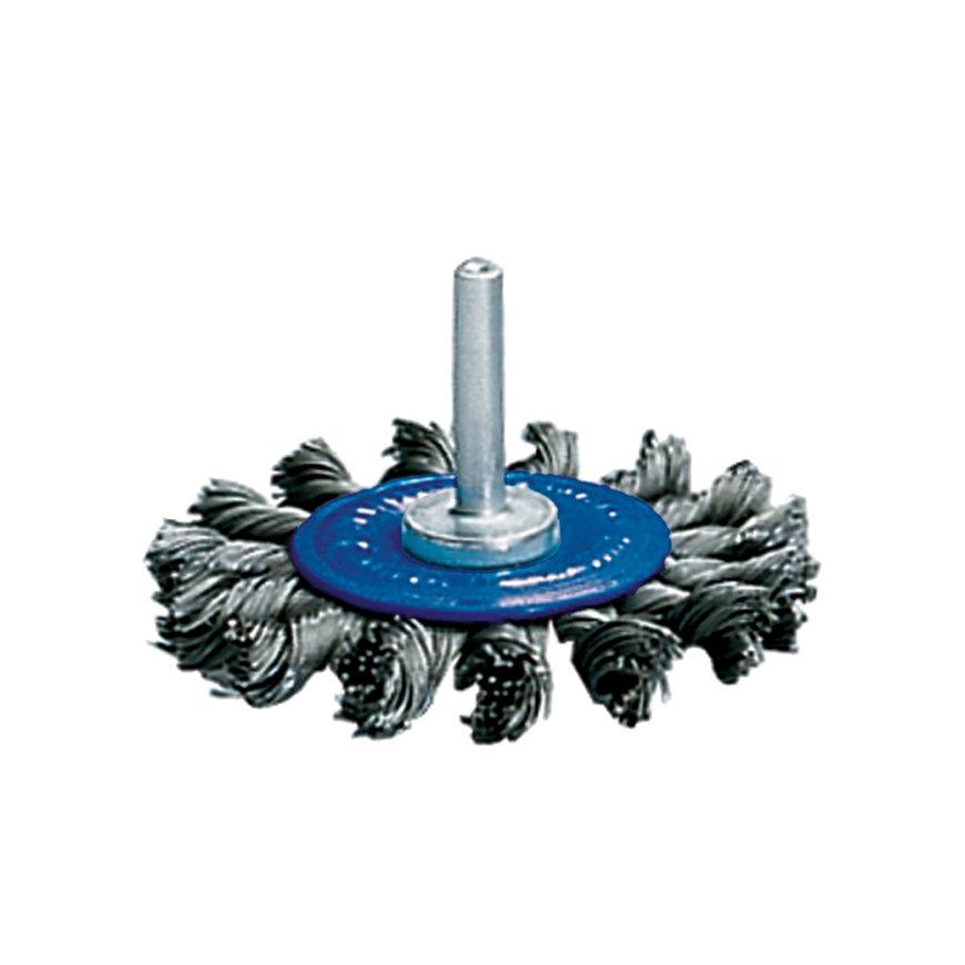 Promat rondborstel, staal, d = 75 mm, opname 6 mm, draad 0,5 mm, max. 20000 omw/min