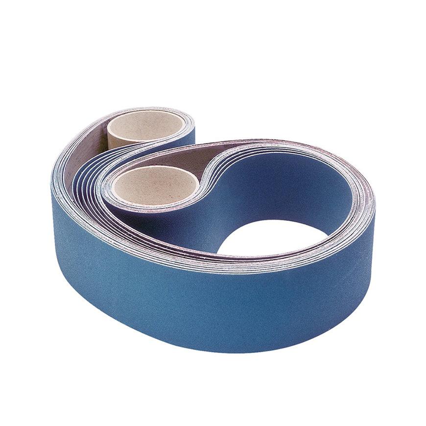 Promat schuurband, l = 2000 mm, b = 75 mm, korrel 120, zirkoniumkorund, voor rvs