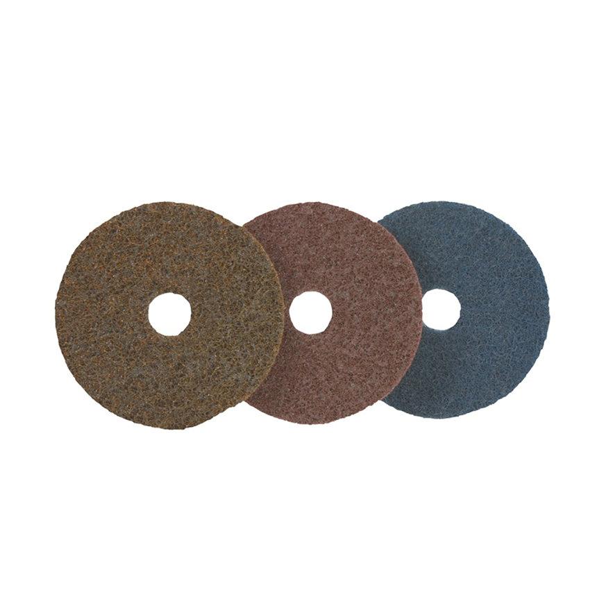 Promat schuurlinnenschijf, d = 115 mm, grof, bruin, voorgestanst