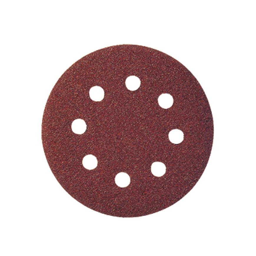 Promat schuurpad, met gaten, klitbevestiging, 125 mm, korrel 180, korund, voor hout/metaal