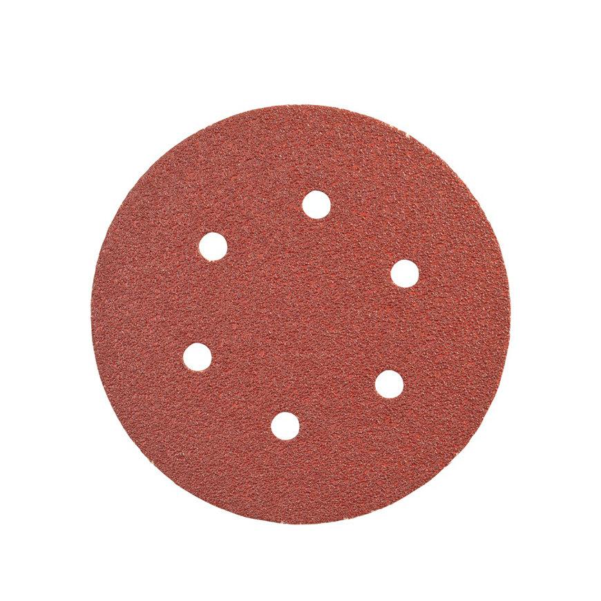 Promat schuurpad, met gaten, klitbevestiging, 150 mm, korrel 120, korund, voor hout/metaal