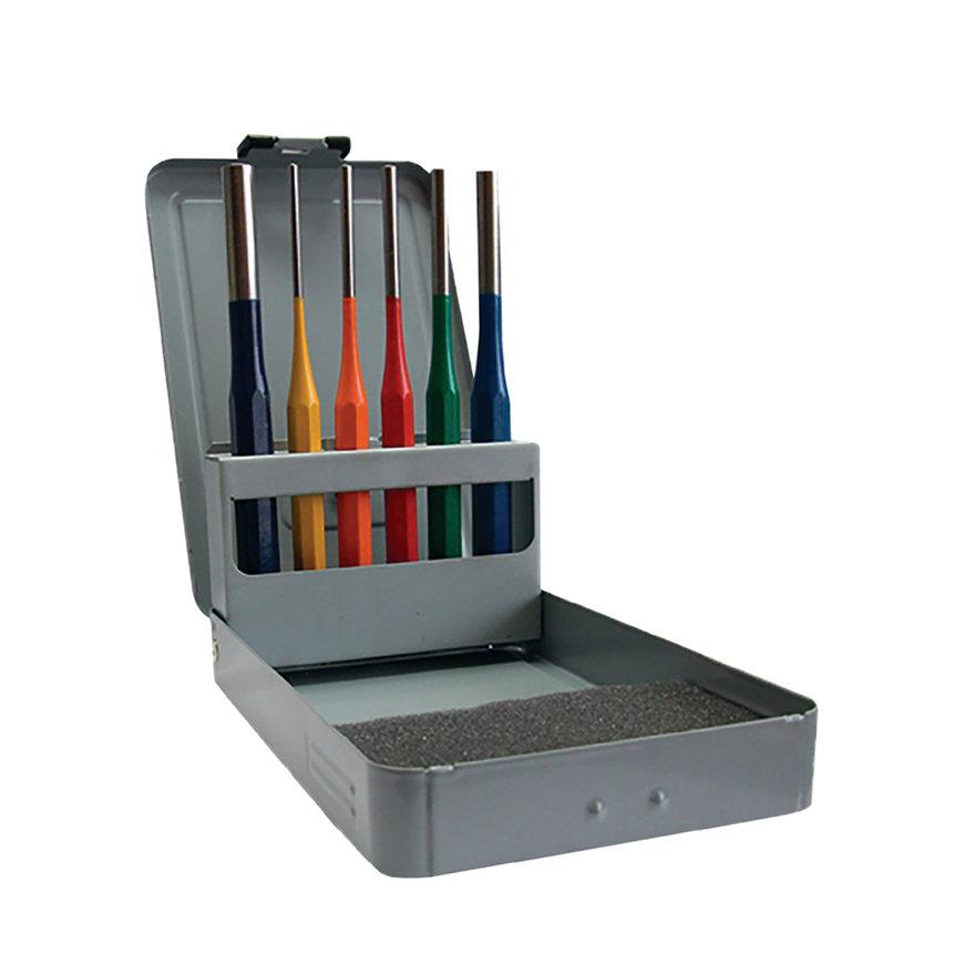 Promat drevelset, 6-delig, l = 150 mm, maat op kleur 3-4-5-6-8-10 mm, metalen cassette