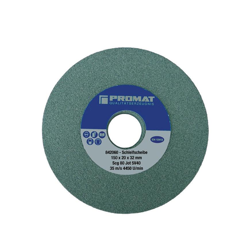 Promat slijpmachineschijf, siliciumcarbide, d = 150 mm, b = 25 mm, boring 32 mm, fijn 80