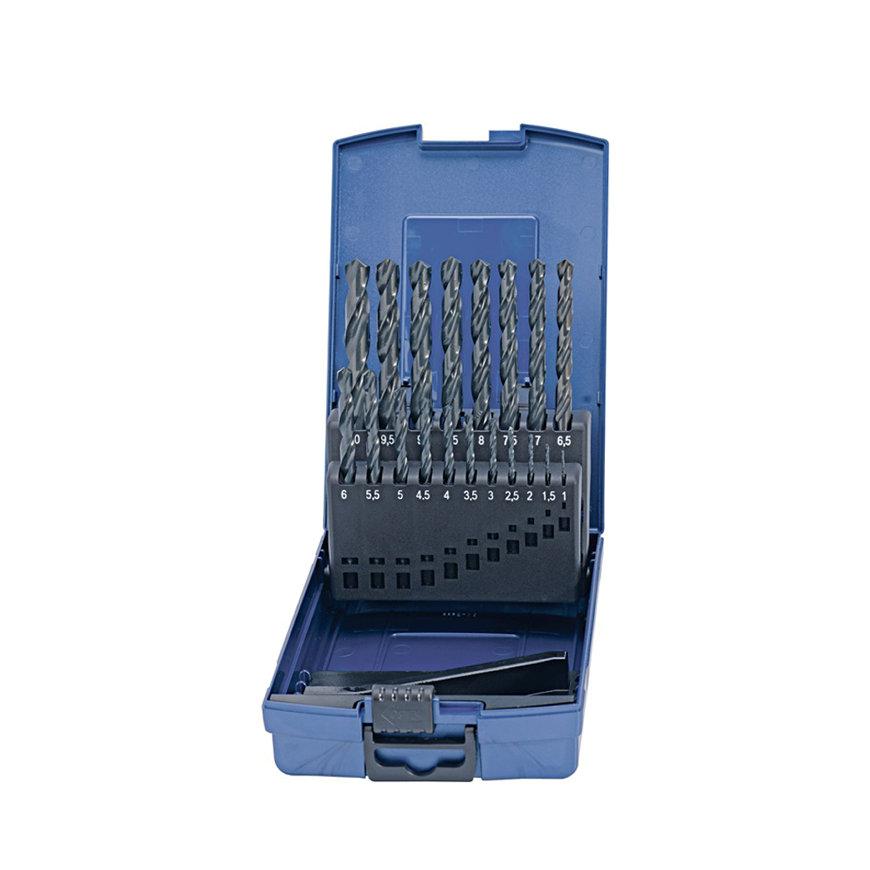 Promat spiraalborenset, HSS, type N, DIN338, 50 delig, 1 - 5,9 mm