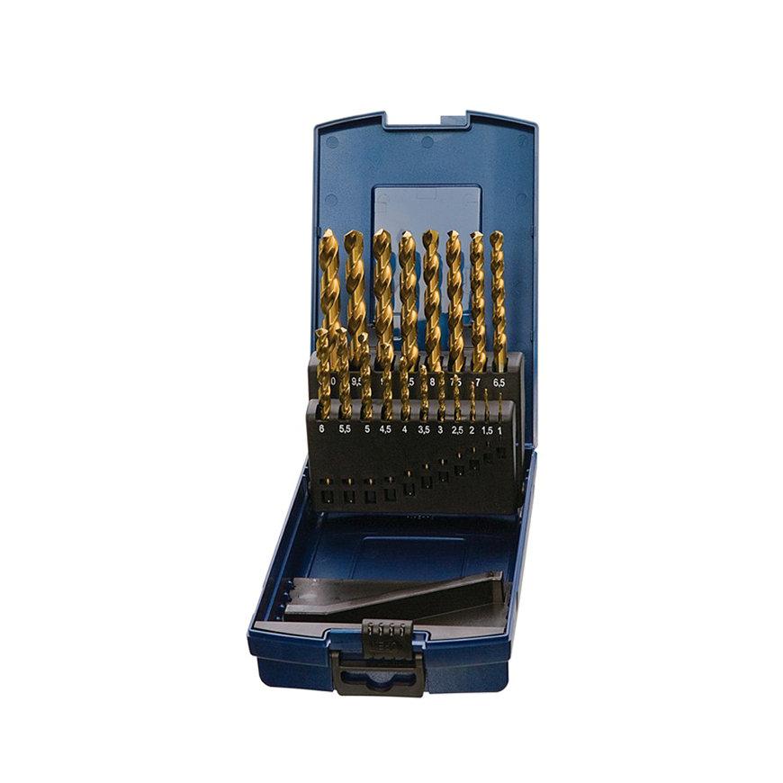 Promat spiraalborenset, HSS-TiN, type N, DIN338, 50 delig, 1 - 5,9 mm