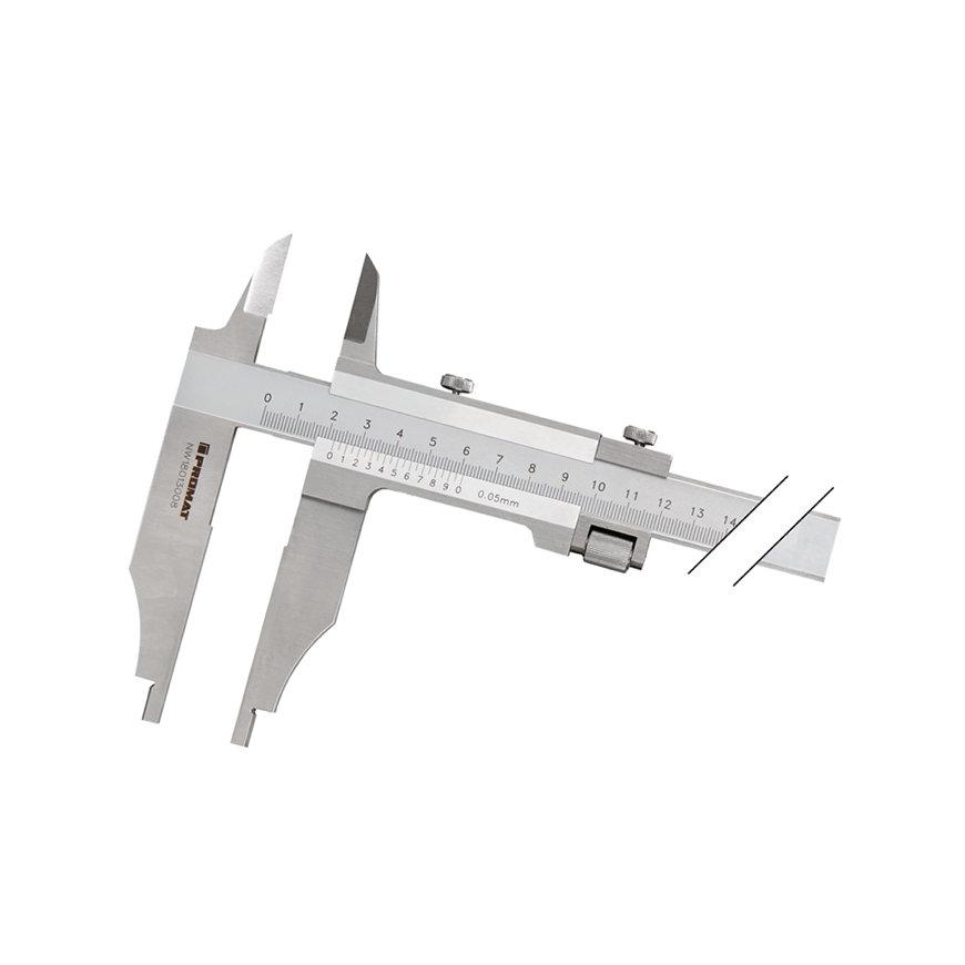Promat schuifmaat, DIN862, met spitse punten, Snavell, beklengte 90 mm, meetbereik 300 mm