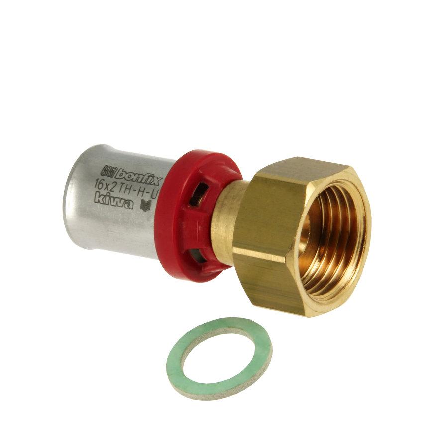 """Bonfix Alu-pers 2-delige koppeling, Kiwa, pers x wartel, 26 mm x ¾"""""""