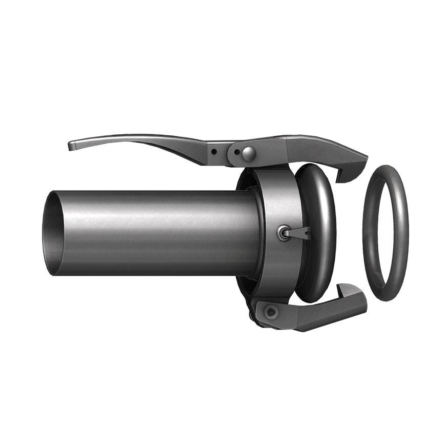 Dallai M-Teil mit Schweißrohr, ModellC, schwarz, 50x 50mm